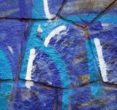Bleue Graffiti Lizenzfreies Stockfoto