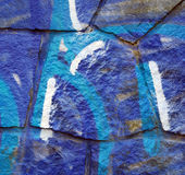 Bleue grafitti Royalty Free Stock Photo