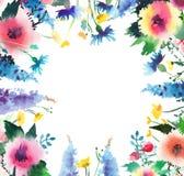 Bleuets roses de beaux beaux wildflowers colorés floraux lumineux sophistiqués de ressort Photographie stock