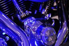 Bleus d'engine de motocyclette Images libres de droits