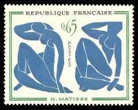 Bleus de nus de Les de peinture par Matisse Photos libres de droits