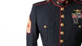 Bleus de robe d'usmc uniformes photo stock