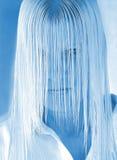 Bleus de soin de cheveu images stock