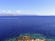 The Blew Aegean, Cyclades, Royalty Free Stock Photos