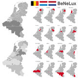 Bélgica, os Países Baixos, luxembourg Fotos de Stock