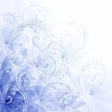 Blüht blauen Hintergrund Stockfotografie