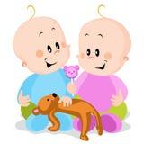 bliźniacy royalty ilustracja