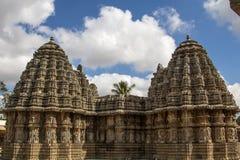 Bliźniacza świątynia Somnathpur Obraz Royalty Free