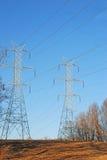 Bliźniacza linia energetyczna Góruje z rogaczem Obrazy Royalty Free