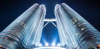 Bliźniacze wieże, wysocy budynki w Malaysia Obrazy Royalty Free