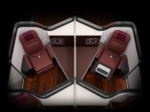 Bliźniaczy luksusowy klasa business apartamentu wnętrze na czarnym tle royalty ilustracja