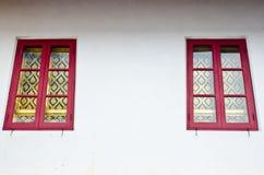 Bliźniaczy Tajlandzki Kościelny Windows Zdjęcie Royalty Free