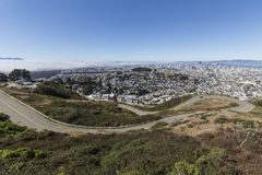 Bliźniak Osiąga szczyt bulwar, San Fransisco Fotografia Stock