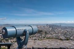 Bliźniak osiąga szczyt obserwacja punkt Obrazy Royalty Free