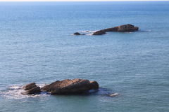 Bliźniacy w Adriatyckim morzu (Montenegro, zima) Obraz Royalty Free