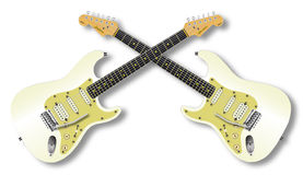 Bliźniacze gitary Zdjęcie Royalty Free