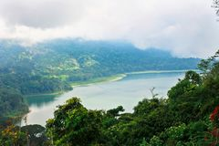 Bliźniaczy jezioro krajobraz Bali Zdjęcia Stock