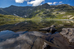 Bliźniaczy jezioro Siedem Rila jezior, Rila góra Obrazy Royalty Free