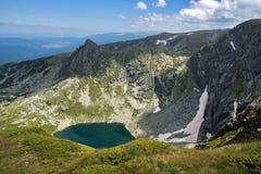 Bliźniaczy jezioro Siedem Rila jezior, Rila góra Zdjęcia Stock