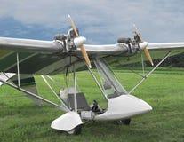 Bliźniaczy parowozowy ultralight samolot. Obrazy Stock
