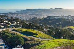 Bliźniaczy szczyty, San Fransisco, Kalifornia, usa Zdjęcie Stock