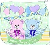 Bliźniaka dziecka prysznic, Fotografia Stock