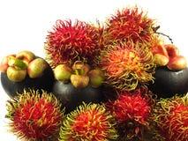 Bliźniarka mangostanu tropikalna owoc Asia Zdjęcia Royalty Free