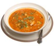 bli rädd kryddig soup Arkivfoto