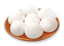 bli rädd vita ägg Fotografering för Bildbyråer