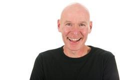 Bli skallig manen i studio royaltyfria bilder