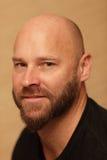 bli skallig skäggmannen Arkivfoton