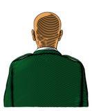Bli skallig soldaten från tillbaka eller bakre sikt Royaltyfri Foto