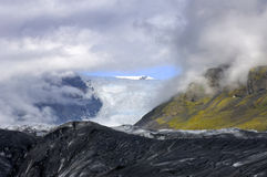 Blick auf dem Gletscher Lizenzfreie Stockbilder