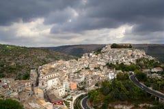 Blick auf Ragusa Ibla, Sizilien Lizenzfreies Stockbild