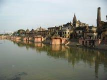 Blick Ayodhyas A von Ram ki-Pauri Lizenzfreies Stockbild
