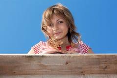Blick Blicke des jüngeren Mädchens bilden Lizenzfreie Stockbilder