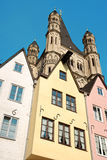 Blick der alten Stadt Köln in Deutschland Stockfotografie