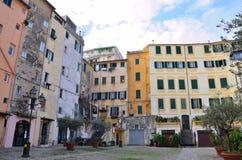 Blick der historischen Mitte von Sanremo Stockfotos