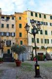 Blick der historischen Mitte von Sanremo Stockbilder