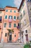 Blick der historischen Mitte von Sanremo Lizenzfreie Stockfotos