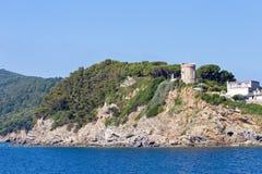 Blick der Küste der Insel Stockfoto