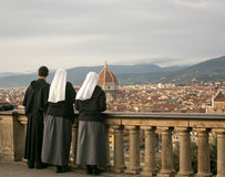 Blick der religiösen Figuren über Florenz Lizenzfreies Stockbild
