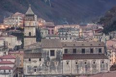 Blick der Stadt von Campagna in der Provinz von Salerno Stockfotografie