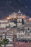 Blick der Stadt von Campagna in der Provinz von Salerno Lizenzfreie Stockfotografie