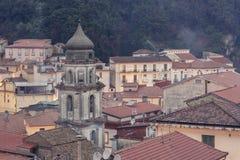 Blick der Stadt von Campagna in der Provinz von Salerno Lizenzfreie Stockbilder