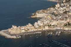 Blick des castellammare Del Golfo Trapani Sizilien Italien Europa Stockbilder