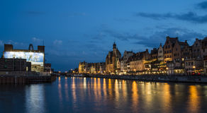 Blick des Fluss motlawa Gdansk Polen Europa Lizenzfreies Stockfoto