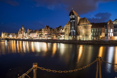 Blick des Fluss motlawa Gdansk Polen Europa Stockfotos