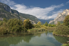 Blick des Flusses Stockfotografie