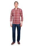 Blick des Mannes in Mode lokalisiert Stockfoto